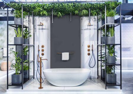 design of interior of bathroom in contemporary  style Reklamní fotografie