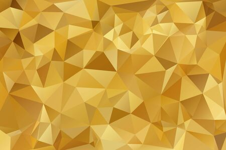 Abstract Gold triangle background. Low poly style.Vector illustration. Stockfoto - 138473509