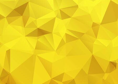 Abstract Gold triangle background. Low poly style.Vector illustration. Banco de Imagens - 140178591