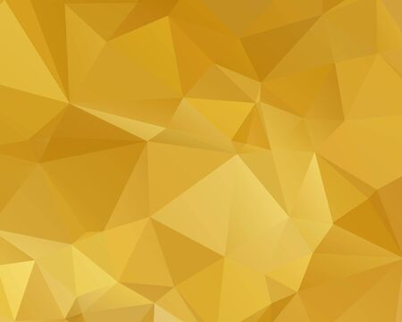 Abstract Gold triangle background. Low poly style.Vector illustration.