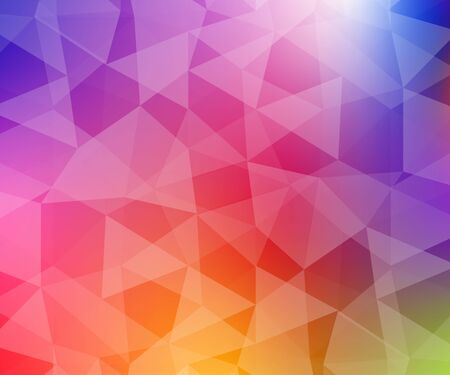 Abstract multi colored polygon, low polygon background. Transfusion of color. All the colors of the rainbow. Multicolor.Low poly style. Geometric Pattern.