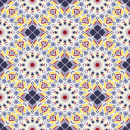 Seamless pattern with abstract geometrical elements.Vector Asian Geometric Pattern. Muslim, indian.