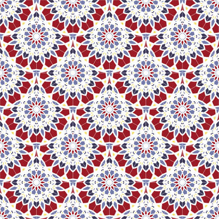 Seamless pattern. Vintage decorative elements. Abstract background. Islam, Arabic, Indian, ottoman motifs. Vettoriali