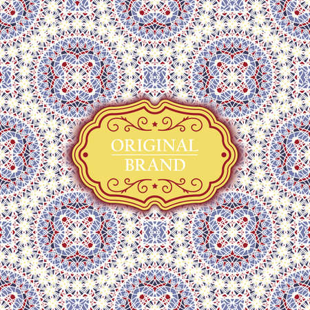 Card. Vintage decorative elements. Ornamental floral business cards, oriental pattern, vector illustration. Islam, Arabic, Indian, turkish, pakistan, chinese, ottoman motifs. Vektoros illusztráció