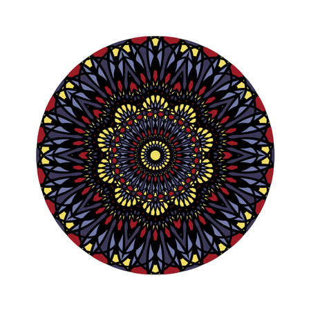Flower Mandalas. Vintage decorative elements. Oriental pattern, Islam, Arabic, Indian, turkish, pakistan, chinese, ottoman motifs. Vector illustration. Isolated on white .