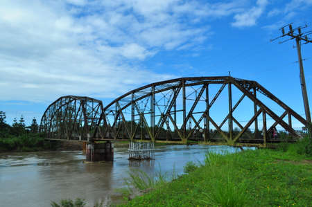 Old Railroad Bridge in the border between Costa Rica and Panama