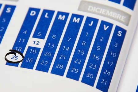 Calendar in December