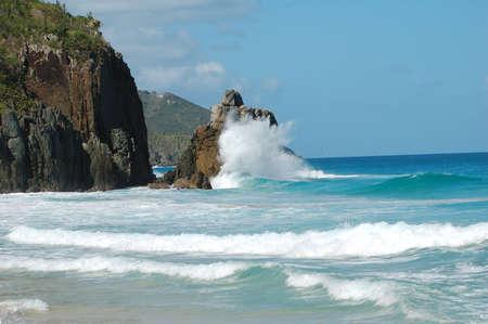 reiste: Tortola, BVI Strand Lizenzfreie Bilder