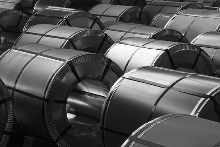 acier: Rouleaux de t�le d'acier Banque d'images