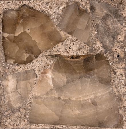 Vintage stone section (on mosaic) Stock Photo