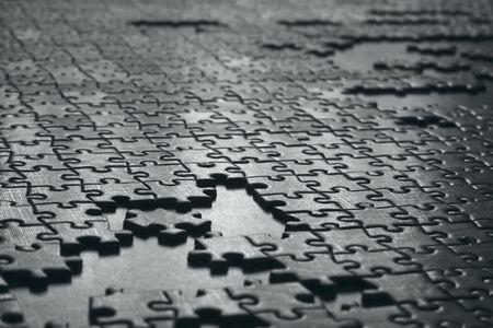 texture of gray puzzle Standard-Bild
