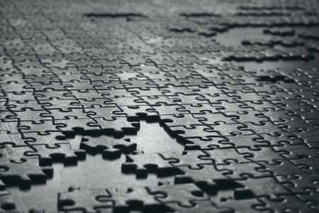 texture of gray puzzle Stock Photo