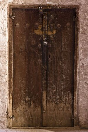 Eastern ancient door  photo