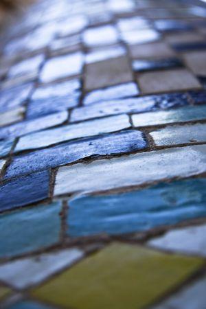 alte Kachel Textur Standard-Bild