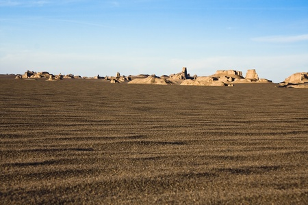 Sandy hills in a desert