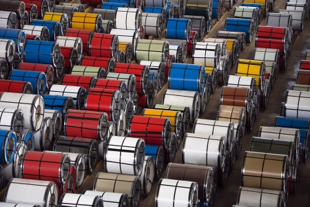 Rolls of steel sheet photo
