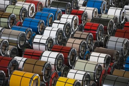 Rolls of steel sheet photo