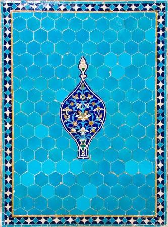 Textured ancient blue tiles Stock Photo