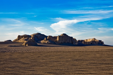 Sandy hills in a desert
