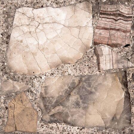 brown granite: Vintage stone section  on mosaic