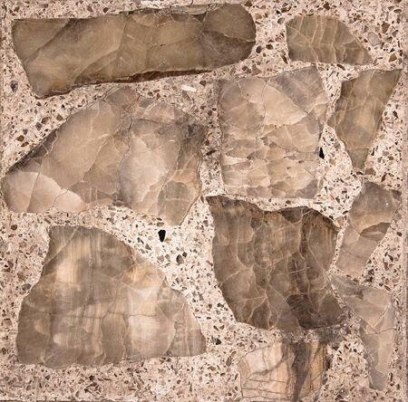 Vintage stone section  on mosaic