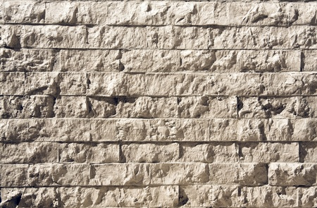 Wall of stony bricks