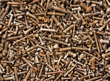 texture of crowded bolts  Standard-Bild