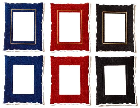 Red, Blue   Black Frames with   without Golden Margin