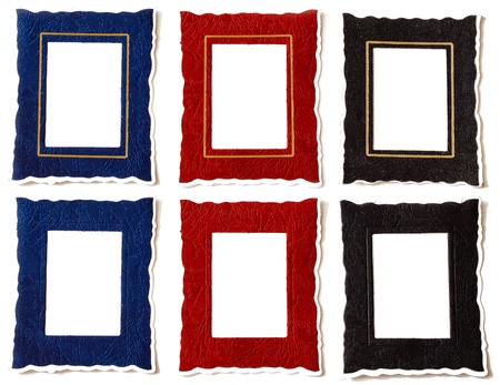 Red, Blue   Black Frames with   without Golden Margin