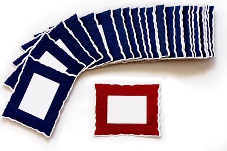 Landschaft Rot Rahmen Viele Blauen