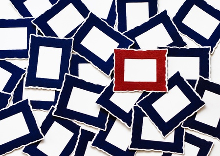 Many Blue   One Red Frames