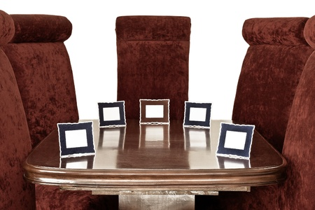 Brown Chairs   Name Tag around Table photo