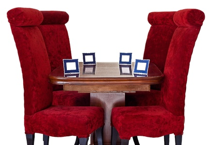 Red Chairs   Name Tag around Table