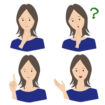 Woman Poses 4 Pattern Vector