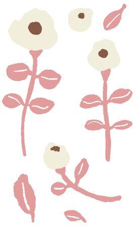 Scandinavian design style flower vector illustration