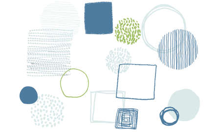 Hand drawn shapes background vector