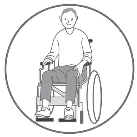Illustration of a man in a wheelchair