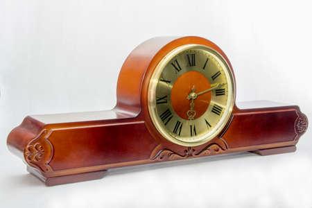 Wooden antique mantel clock