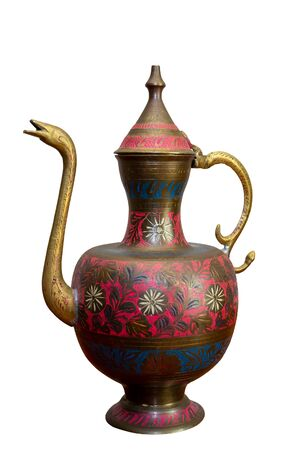 Metal jug with a cover and east ornament Reklamní fotografie