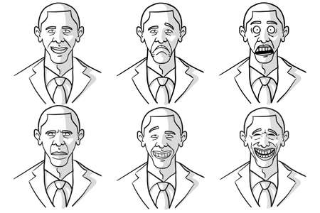 satirical: Barack Obama Cartoon Faces