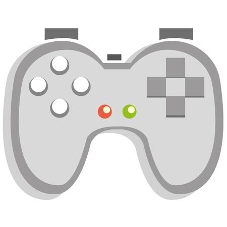 niños jugando videojuegos: Un icono de control de videojuego de dibujos animados Vectores