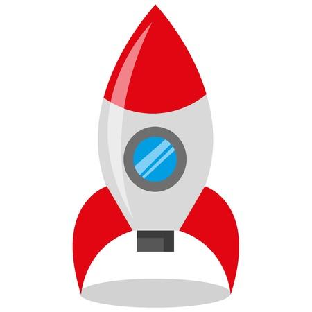 cohetes: Un conjunto colorido de los juguetes Vectores