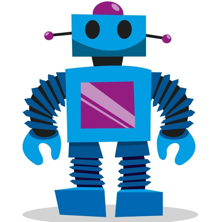 robot cartoon: A colorfull set of vector toys