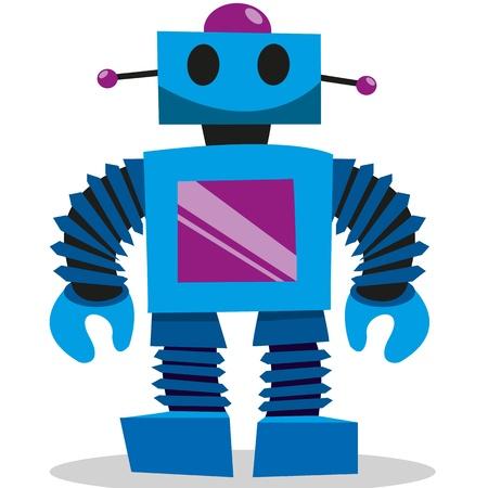 robot: Un conjunto colorido de los juguetes de vectores