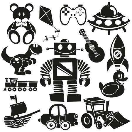 Un ensemble de differents jouets vecteur mignon Banque d'images - 20943678