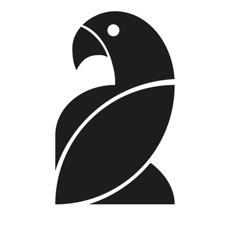 Vector Stylish Abstract Silhouette Bird Icon Vector