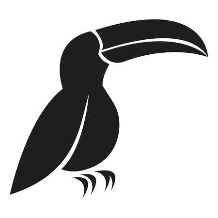 Vector Stylish Abstract Silhouette Toucan Icon Vector