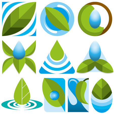 back ground: set of vector eco icons Illustration