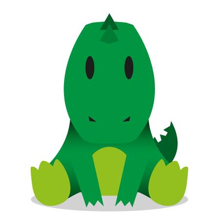 A vector cute cartoon baby crocodile icon Vector