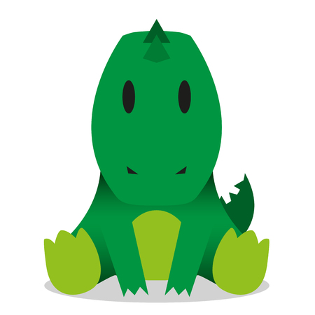 A vector cute cartoon baby crocodile icon